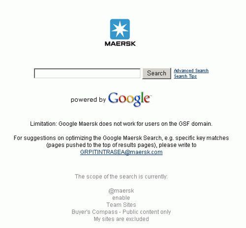maersk google