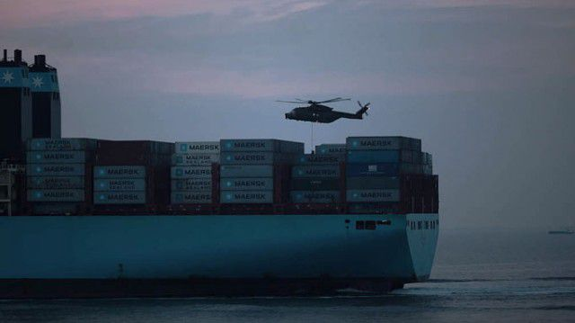 Naval exercise on Mary Maersk