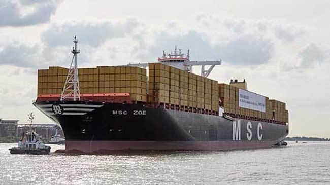 世界最大集装箱船MSC ZOE携星战主题曲炸裂进港